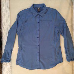 REI Women's Light Blue Button Down Shirt Size L